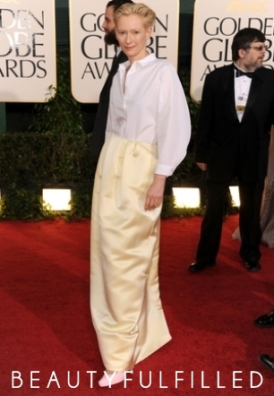 Tilda Swinton Dress by Jil Sander Source: All Images from TMZ